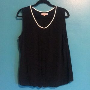 Banana Republic black sheer tank